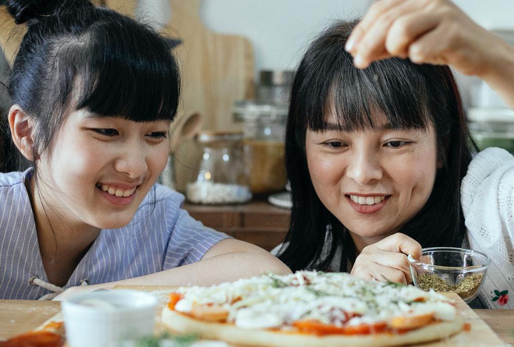 Japanese girls cooking